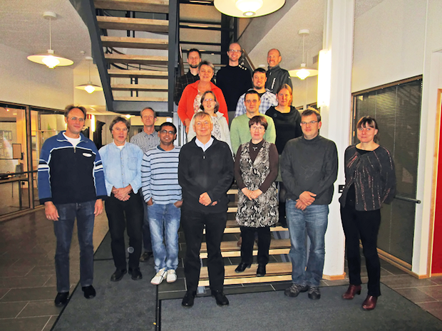 Participants of the annual CAOS meeting 2015 in Jokioinen, Finland